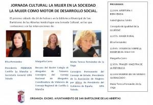 JORNADA CULTUTRAL, LA MUJER EN LA SOCIEDAD