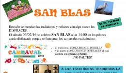 SAN BLAS Y CARNAVALES 2016