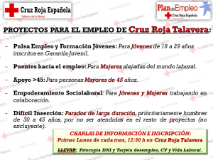 PROYECTOS PARA EL EMPLEO DE Cruz Roja Talavera