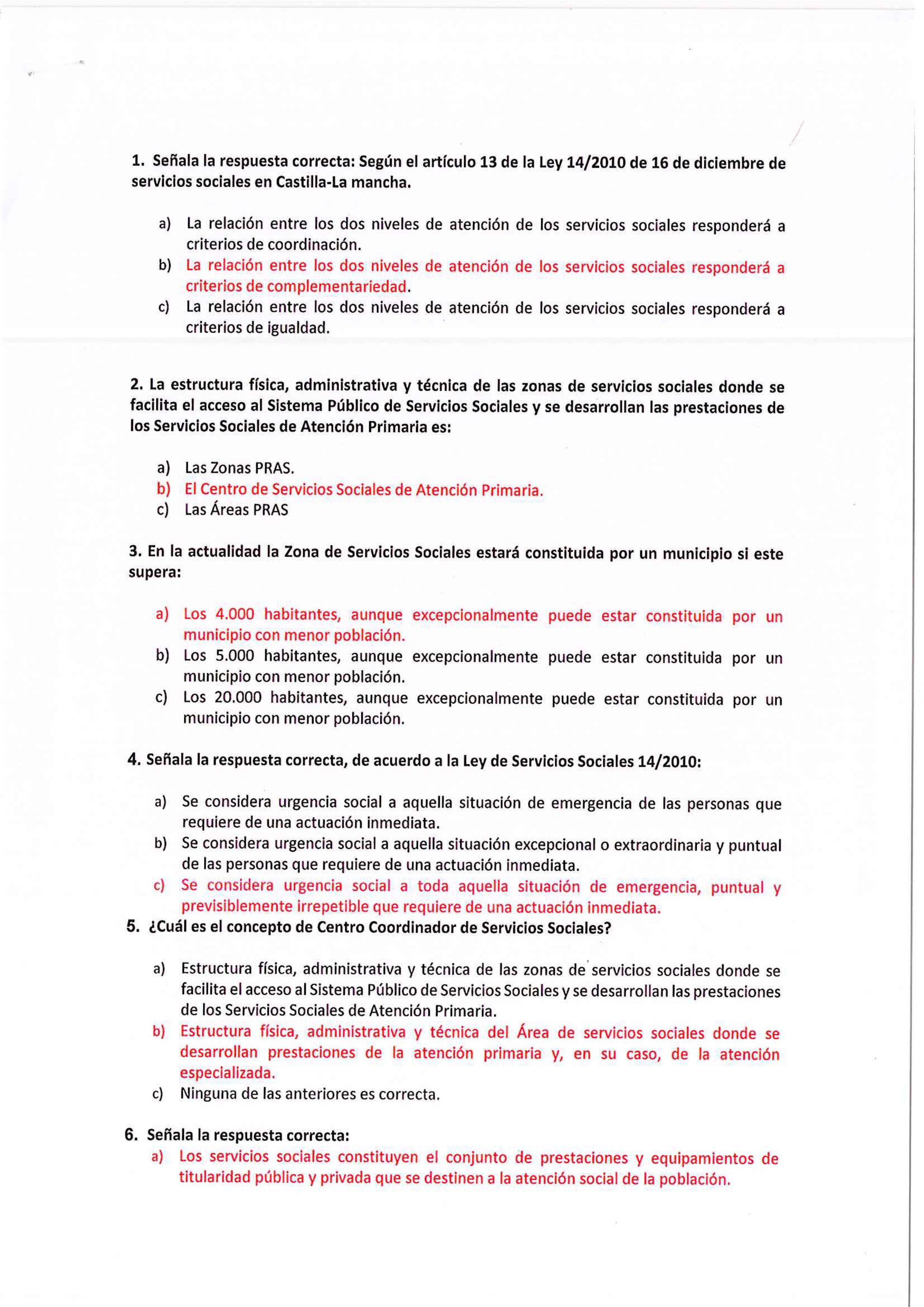 Resultados Examen Trabajador Social Ayuntamiento De San