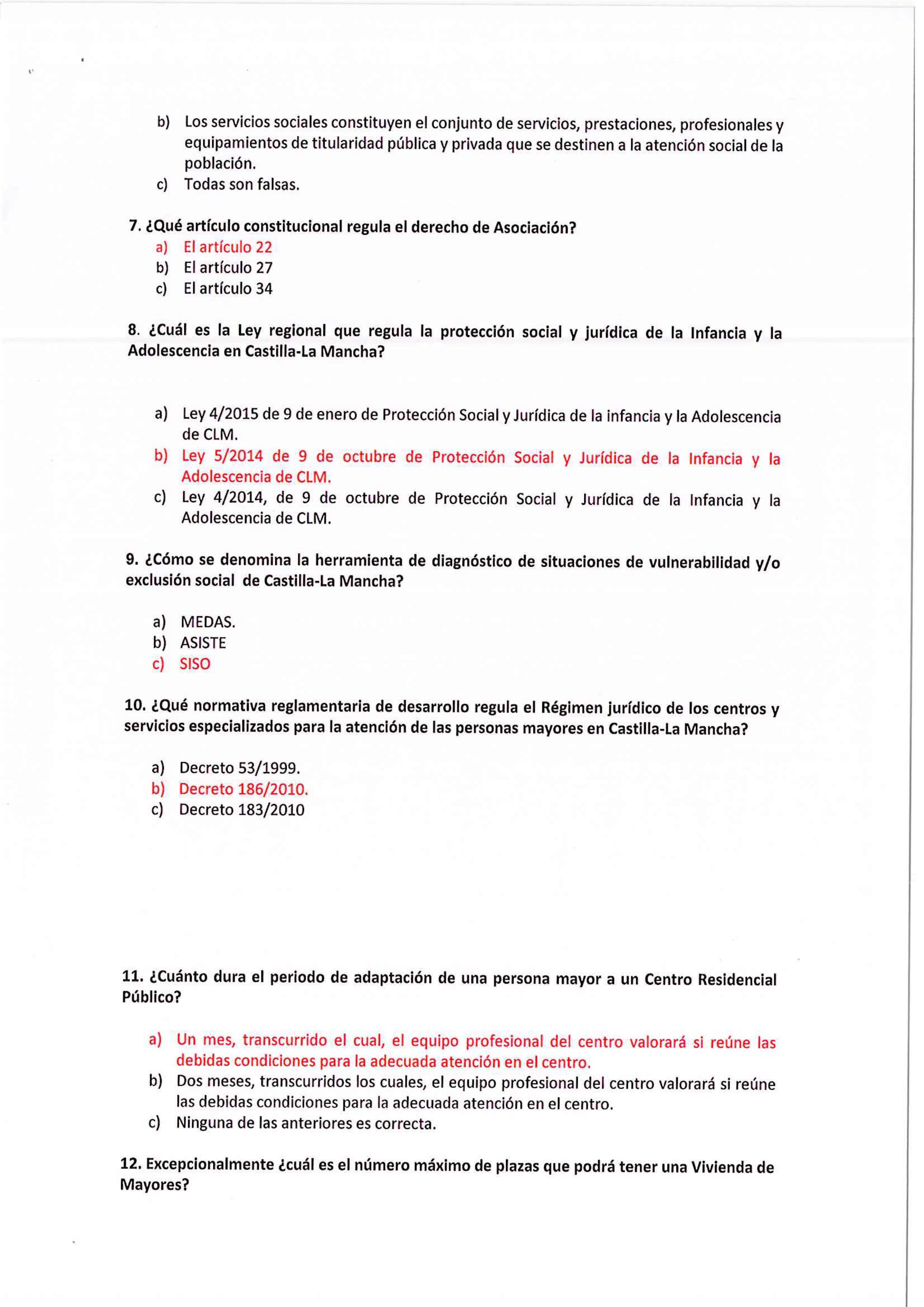 Calendario Examenes Derecho Us.Resultados Examen Trabajador Social Ayuntamiento De San Bartolome